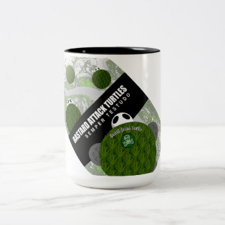 Attack Turtles Two-Tone Coffee Mug