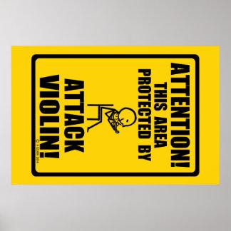 Attack Violin Poster