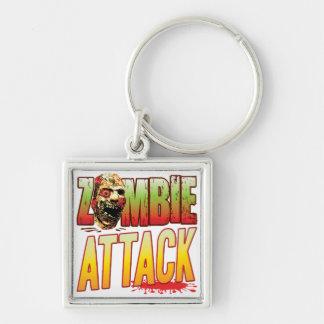 Attack Zombie Head Keychain