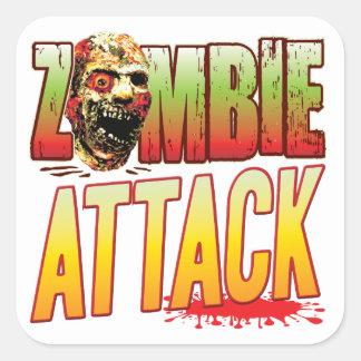 Attack Zombie Head Sticker