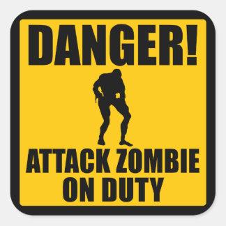 Attack Zombie on Duty Square Sticker