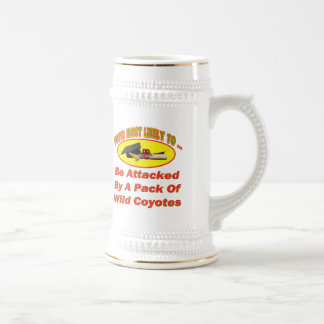 Attacked By Coyotes Beer Stein