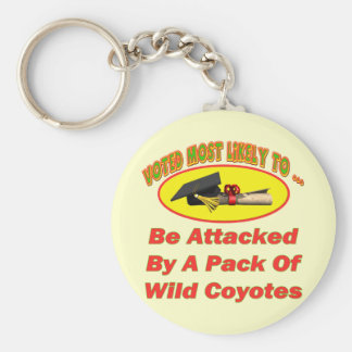 Attacked By Coyotes Key Chains