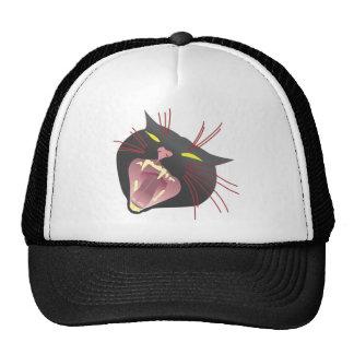 Attacking Black Cat Mesh Hats