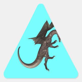 attacking dragon victory success triangle sticker