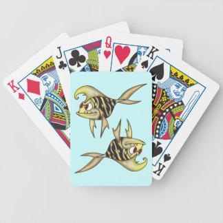 Attacking Piranha Fish Playing Cards