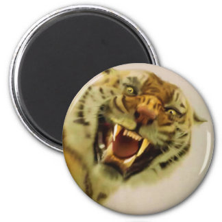 Attacking Tiger by Sukai Asian-style Wildlife Art Magnet