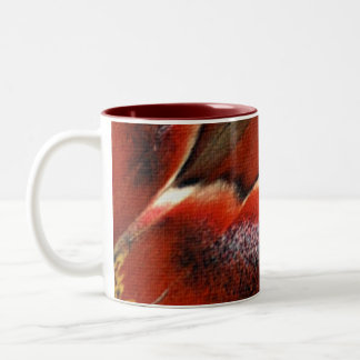 Attacus Atlas Butterfly Wing art Two-Tone Coffee Mug