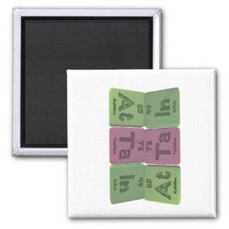 Attain-At-Ta-In-Astatine-Tantalum-Indium 2 Inch Square Magnet
