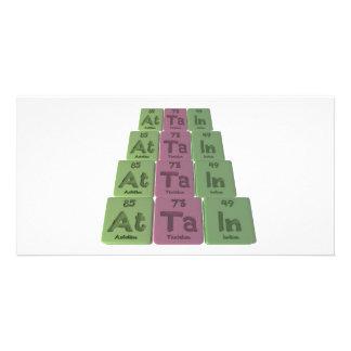 Attain-At-Ta-In-Astatine-Tantalum-Indium Custom Photo Card