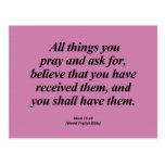 Attainment Mark 11:24 Abbrev Post Cards