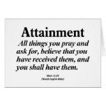 Attainment Mark 11:24 Card