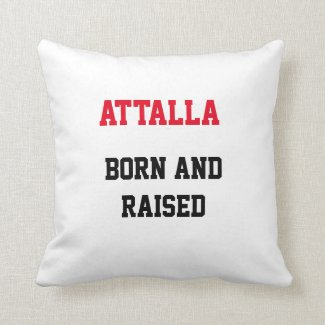 Attalla Born and Raised Throw Pillow