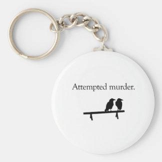Attempted Murder Basic Round Button Keychain