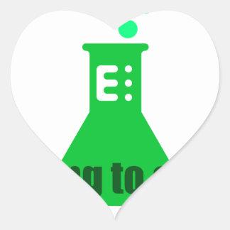 Attempting Chemistry Heart Sticker
