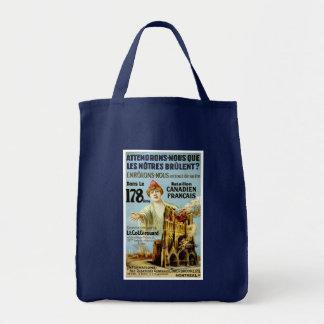 Attendrons-Nous Que Les Notre Brulent Grocery Tote Bag