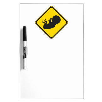 Attention: Baby Ahead! Dry Erase Board