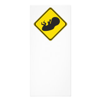 Attention Baby Ahead Rack Card Design