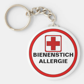Attention - bee pass allergy keychain