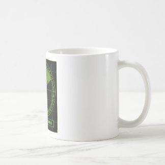Attention beer ahead radar coffee mug