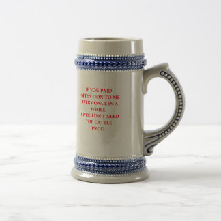 ATTENTION BEER STEIN