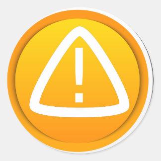 Attention Button Classic Round Sticker