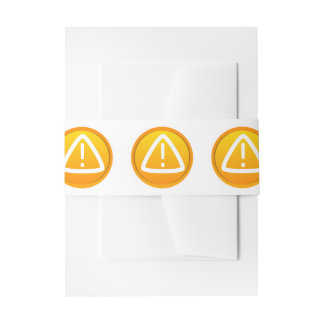Attention Caution Symbol Invitation Belly Band