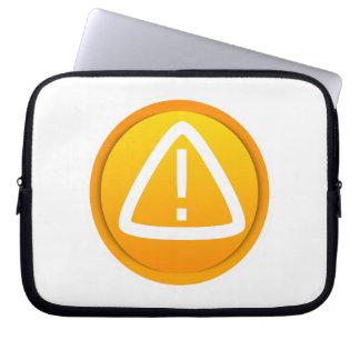 Attention Caution Symbol Laptop Sleeve