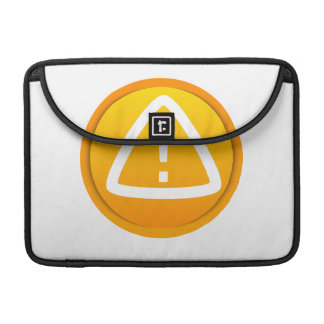 Attention Caution Symbol Sleeve For MacBooks