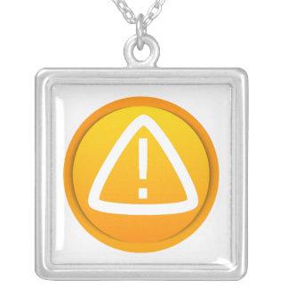 Attention Caution Symbol Necklace