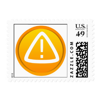 Attention Caution Symbol Postage Stamps