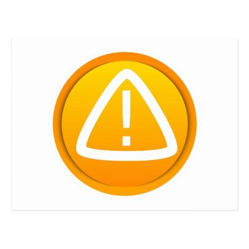 Attention Caution Symbol Postcard