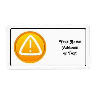 Attention Caution Symbol Shipping Label