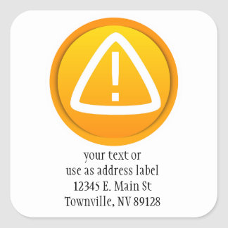 Attention Caution Symbol Square Sticker