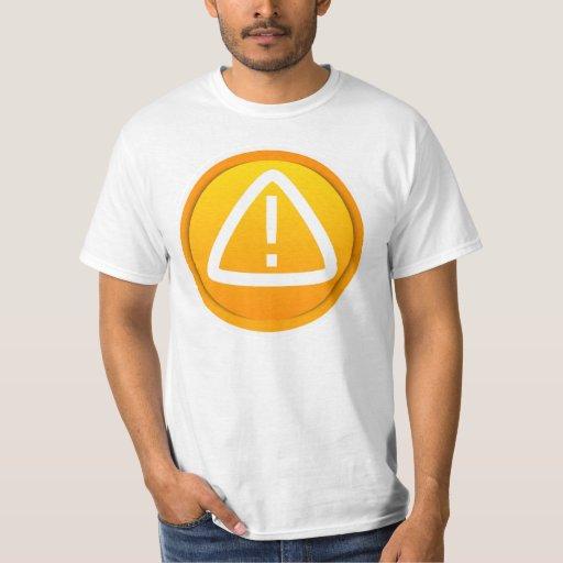 Attention Caution Symbol Tee Shirt