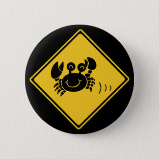 Attention Crabs (1), Traffic Sign, Japan Pinback Button