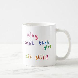 Attention deficit disorder girls women fun art coffee mug