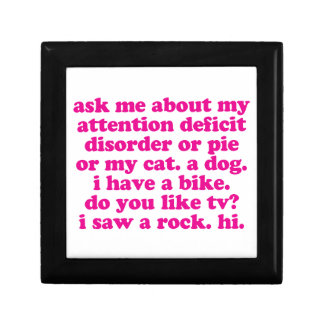 Attention Deficit Disorder Quote ADD ADHD - Pink Gift Boxes