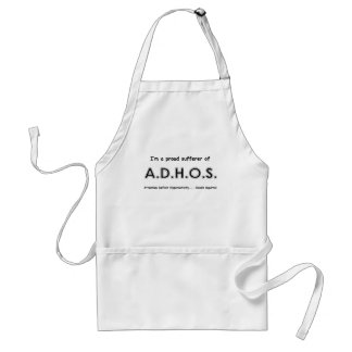 Attention Deficit Hyperactivity .... oooh Squirrel Adult Apron