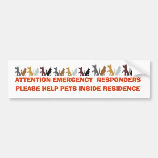 ATTENTION EMERGENCY  RESPONDERS, PLEASE HELP PE... BUMPER STICKER