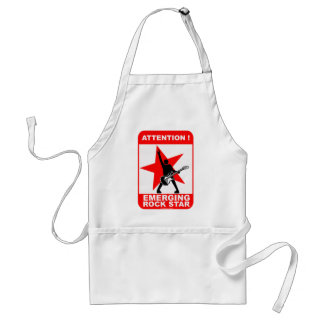 Attention! emerging rock star! adult apron