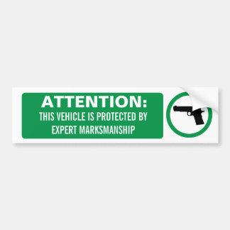 Attention Firearm Bumper Sticker