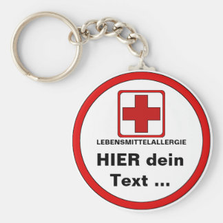 Attention - food allergy key chains