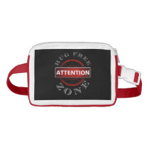 Attention: Hug Free Zone Personal Space Fanny Pack