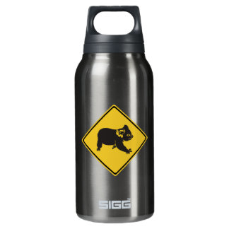 Attention Koalas, Traffic Warning Sign, Australia Insulated Water Bottle