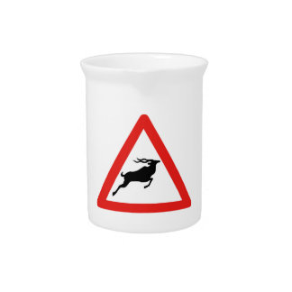Attention Kudus, Traffic Sign, South Africa Pitchers