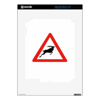 Attention Kudus, Traffic Sign, South Africa Skins For iPad 2
