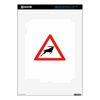 Attention Kudus, Traffic Sign, South Africa iPad 3 Decal