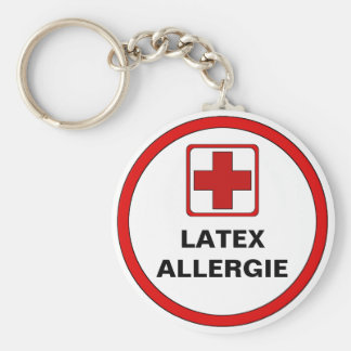 Attention - Latex allergy Key Chain