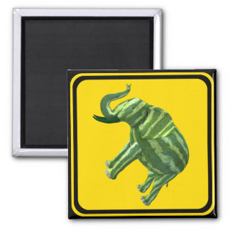Attention: Melophant Crossing! 2 Inch Square Magnet